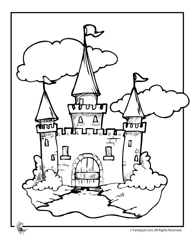 Castle Coloring Pages Fairy Tale Castle Coloring Page – Fantasy Jr.  Great selection of castles