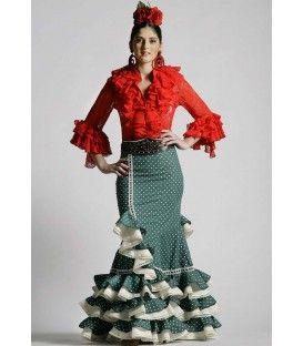 Conjunto: blusa Coral y falda Laina - trajes de flamenca 2016 - Roal