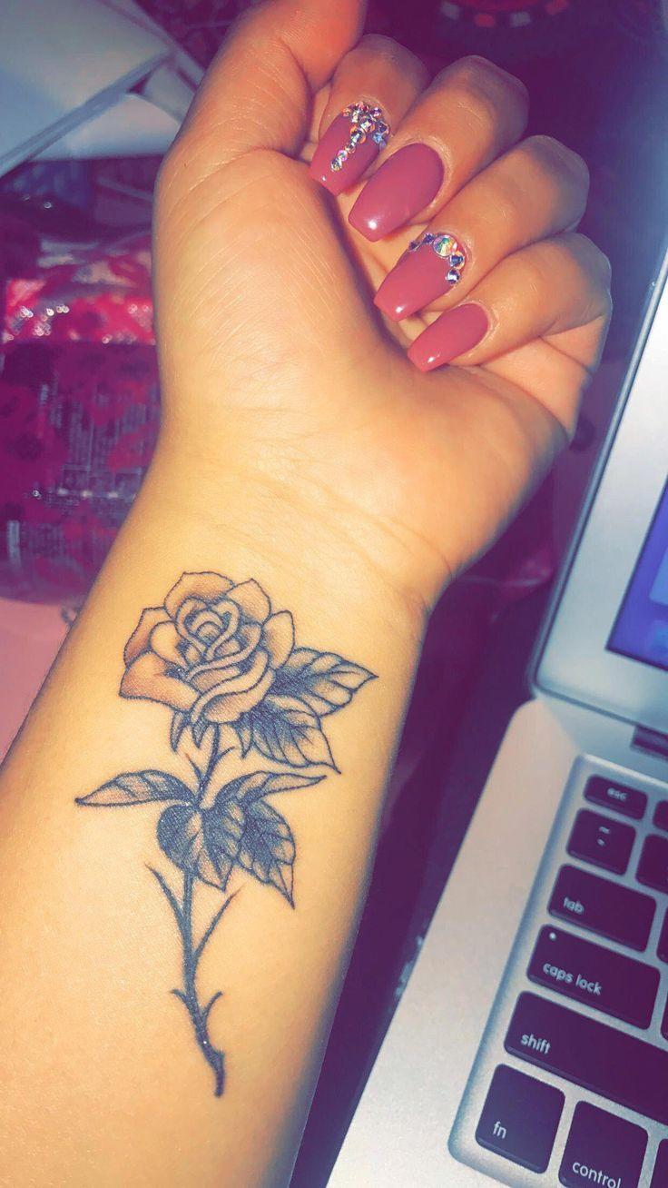 Rose Wrist Tattoo Tattooideasmeaningful Cutebodytattoos Rose Tattoos On Wrist Flower Wrist Tattoos Wrist Tattoos For Women