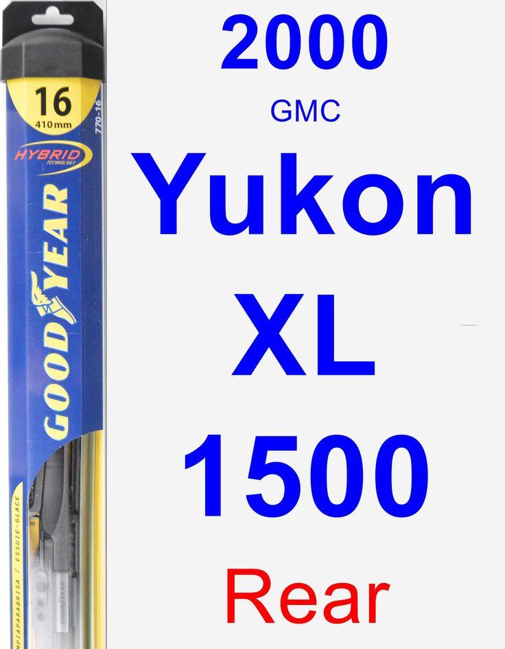 Rear Wiper Blade for 2000 GMC Yukon XL 1500 - Hybrid