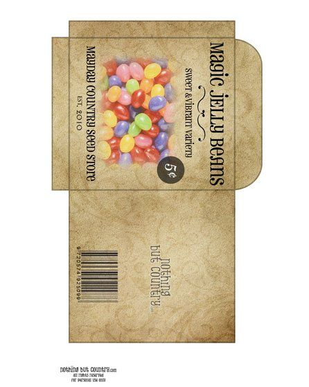 Magic jelly beans for Easter. Plant a few in the dirt and the next day they will grow into something sweet and yummy!