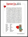 Valentine Printables - Help kids celebrate Valentine's Day with our Free Valentine Printables! You'll find tons of fun activities like coloring pages, word searches, games, cards and more!  Copyright 2012 busybeekidsprintables.com