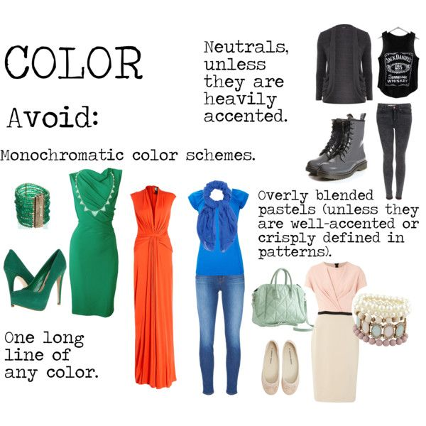 """""""Flamboyant Gamine (FG) Color to avoid"""" by lightspring on Polyvore"""