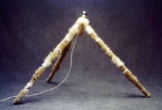 "ONE OF MY LIGHT OBJECTS I DESIGNED ONCE. IT'S CALLED AFTER THE FUR I USED ""ALPACA"""
