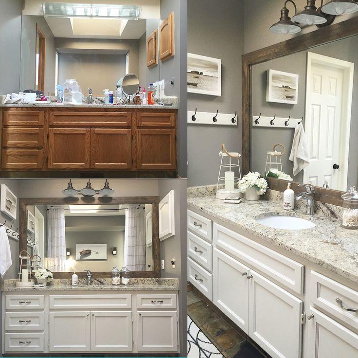 Bathroom Light Fixtures Chicago: 1000+ Ideas About Frame Bathroom Mirrors On Pinterest