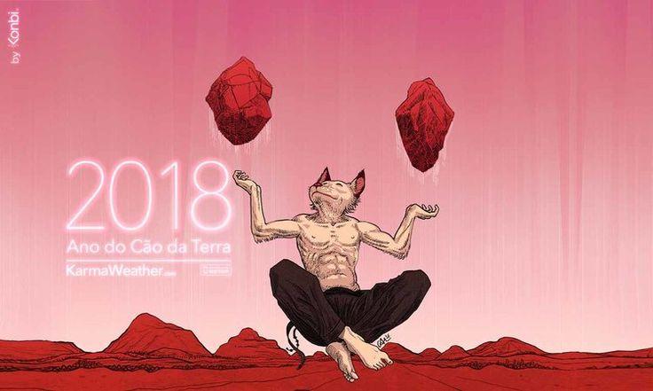 Horóscopo chinês 2018 dos 12 signos do calendário chinês. O ano novo chinês  é 16 de fevereiro 2018.Previsões 2018 do horóscopo chinês para o Ano Novo  chinês 2018 e durante o Ano do Cão 2018.