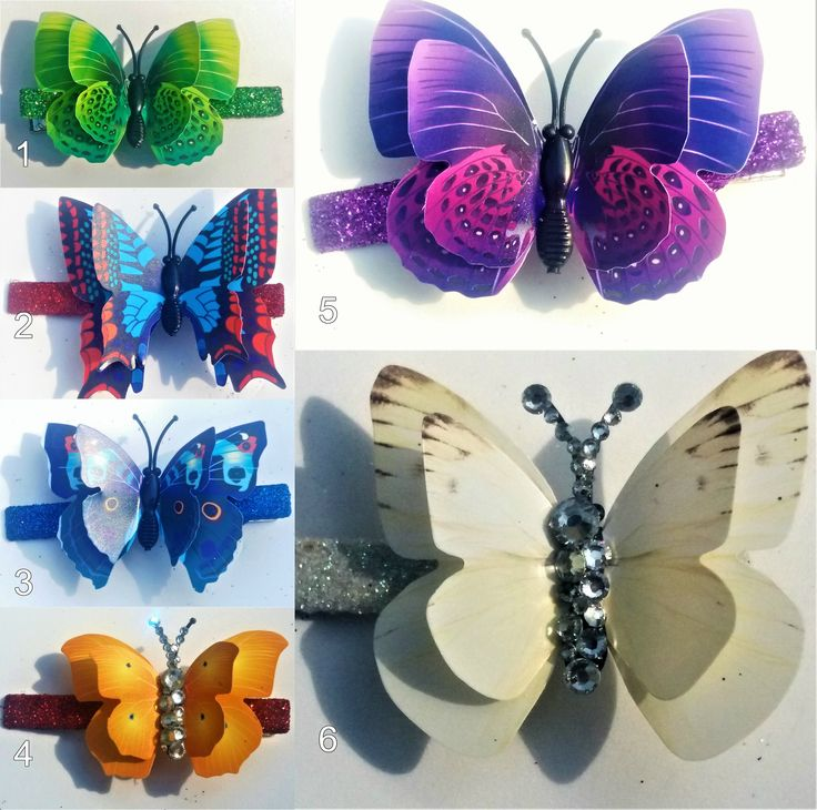 Small 3D Butterfly Hairclips by YourDeadlyDesires on Etsy