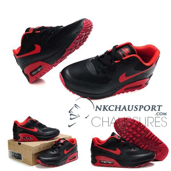 Nike Air Max 90 2014 | Meilleur Chaussures Running Homme Noir Rouge