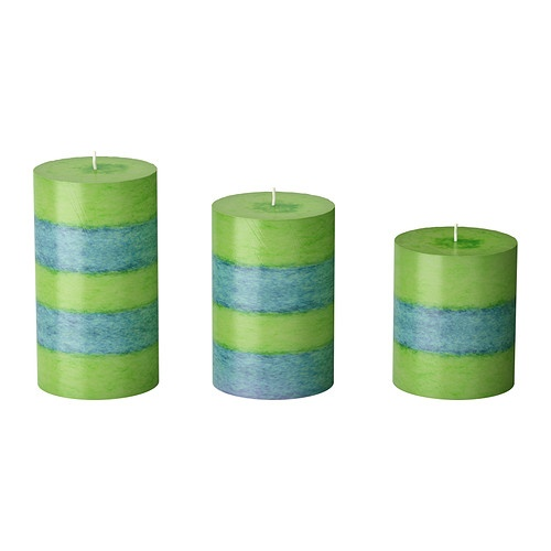 $10 Family RoomRandig Candles, Scented Block, Randig Scented, Block Candles, Blue Tapered, Green Tapered, Blue Candles, Ikea Randig, Families Room