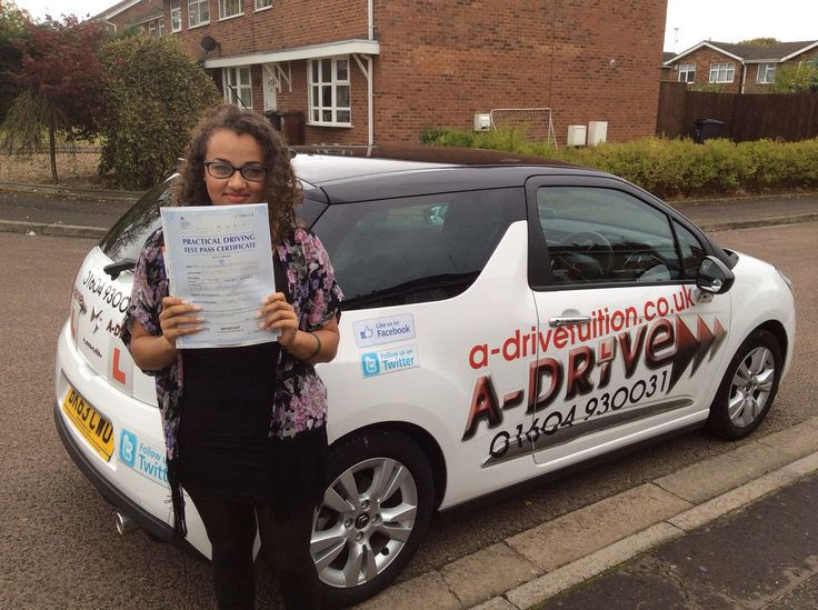 """DRIVING TEST PASS!!!!!  A huge congratulations to Olivia Smith of Kingsthorpe College who passed her practical driving test 20/10/14 at Northampton Driving Test Centre with instruction from Andrew Batty of www.adrivetuition.co.uk  #Driving #Adrive #DrivingTest #DrivingSchools #DrivingLessons #DrivingInstructors #Northampton #Daventry #Towcester #Wellingborough #Northants  Olivia said """"One of the best experiences of my life, definitely worth it!"""""""