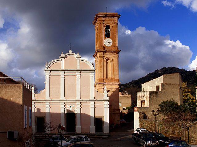 Région de Balagna - Aregno (en corse Aregnu) est une commune située dans le département de la Haute-Corse - Eglise Saint-Antoine