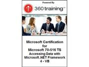 Microsoft Certification for Microsoft 70-516 TS Accessing Data with Microsoft .NET Framework 4 VB Self Paced Online Course