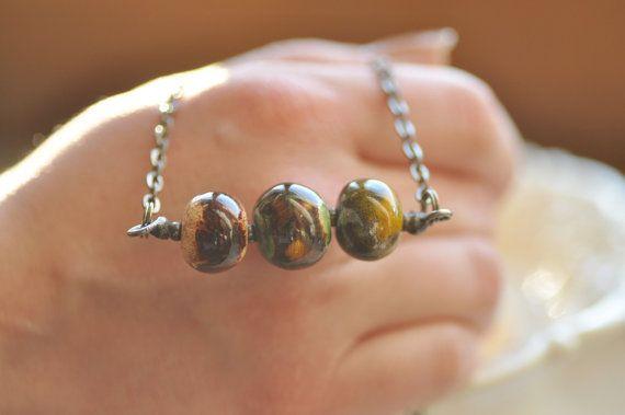 jewelry ceramic showy necklace ceramic necklace  rustic by zolanna