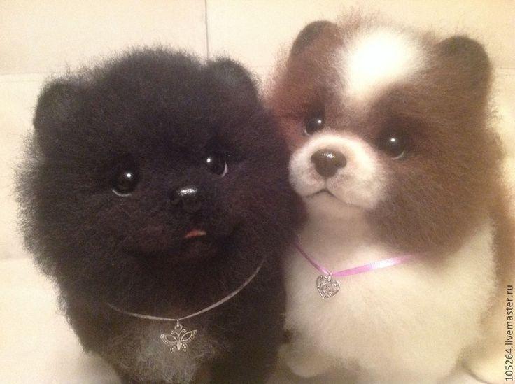 Купить Щенки померанского шпица - шпиц, щенок, собака, авторская ручная работа, Сухое валяние