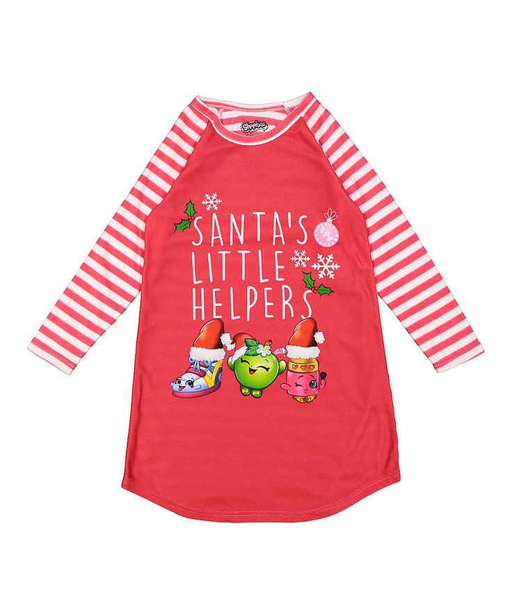 Take a look at this Red Shopkins™ 'Santa's Little Helpers' Nightgown - Girls today!