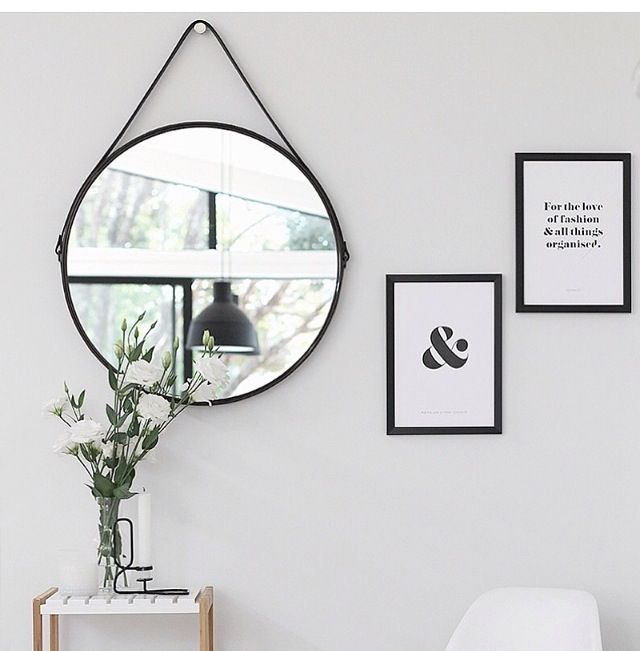 black round mirror with leather strap | $19 | Kmart Australia