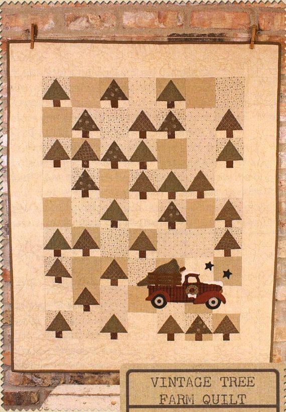 Couette de laine primitif Applique Quilt  par FiddlestixDesign