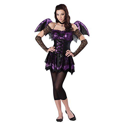Girls Teen  Battitute Bat  Fancy Dress Costume