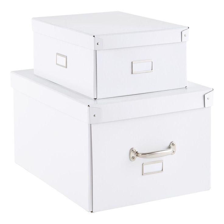 Our White Bigso Storage Boxes