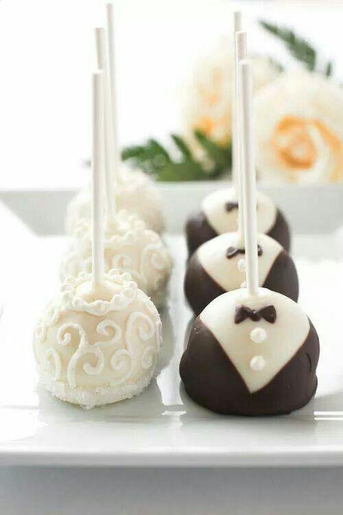 Cakepops bruid en bruidegom