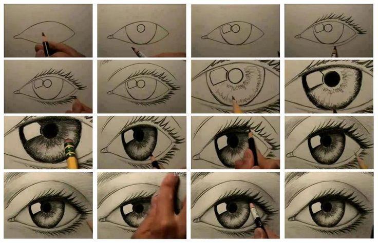 tutorial mediante fotogramas de como realizar un ojo que podra ayudarme en la realización del diseño final