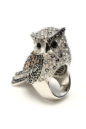 Crystal Owl Ring