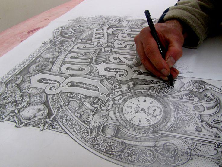 David Adrian Smith / Hand rendered sketch John Mayer album