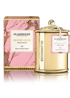 Glasshouse Rendez-vous Amber & Orchid, Limited Edition Candle
