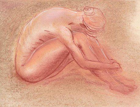 Nude Study # 14  by Willem Van Cleef