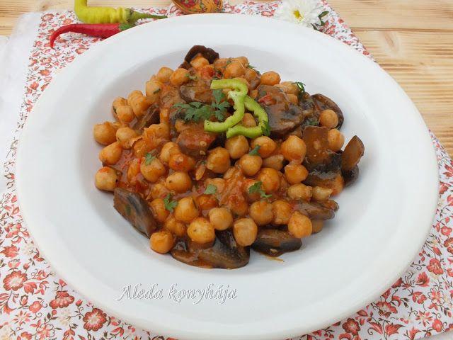 Aleda konyhája: Gombás csicseriborsó főzelék