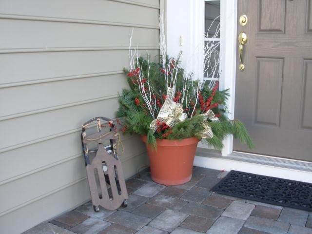 Winter flower pots!