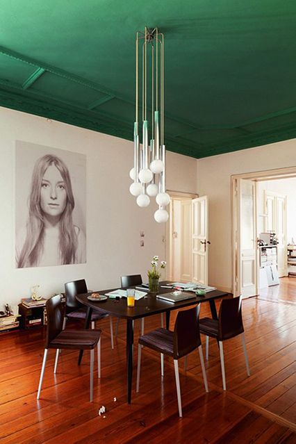 10 Super-Easy DIYs For A Better Apartment #refinery29  http://www.refinery29.com/diy-projects-for-home#slide6  Paint A Dramatic Ceiling If you have low ceilings, opt for a softer hue. But, if you're blessed with higher heights, try a darker, dramatic color. Painting overhead can be tricky, so check out this video. The author's trying it this weekend, and will report back!