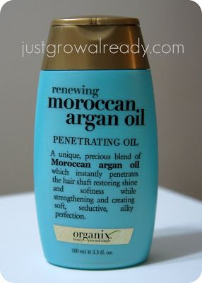 Just Grow Already! | journeying to healthy hair: Product Review: Organix Moroccan Argan Oil