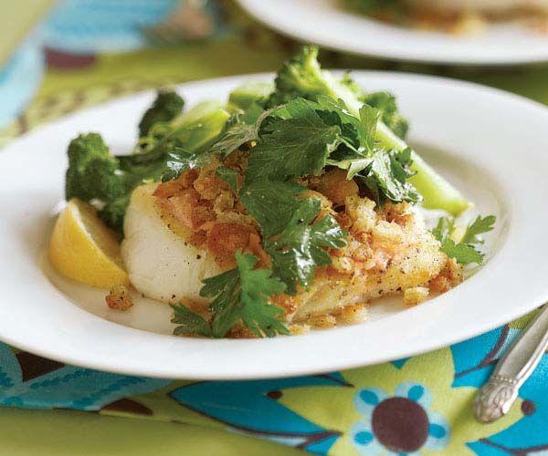 Sear-Roasted Haddock or Cod with Horseradish Aïoli & Lemon-Zest Breadcrumbs recipe