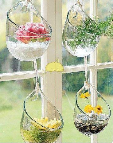 4 Pezzi/set appeso a parete vaso di vetro, piante grasse piante vaso, rotonda trasparente vaso idroponico, forniture di nozze on Etsy, 13,65€