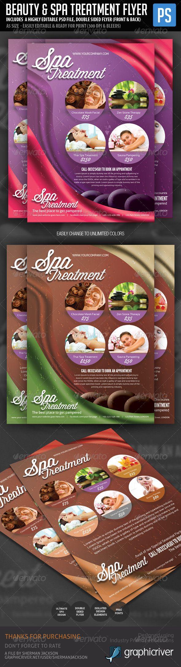Beauty & Spa Treatment Flyer