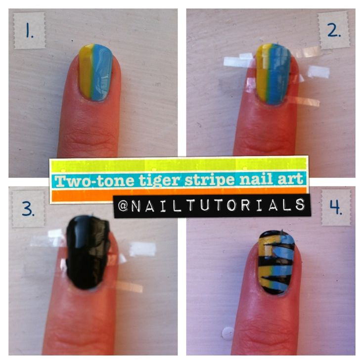 Best 25 tiger stripe nails ideas on pinterest tiger nail art two tone tiger nail art tutorial this website has a ton of cool ideas prinsesfo Image collections