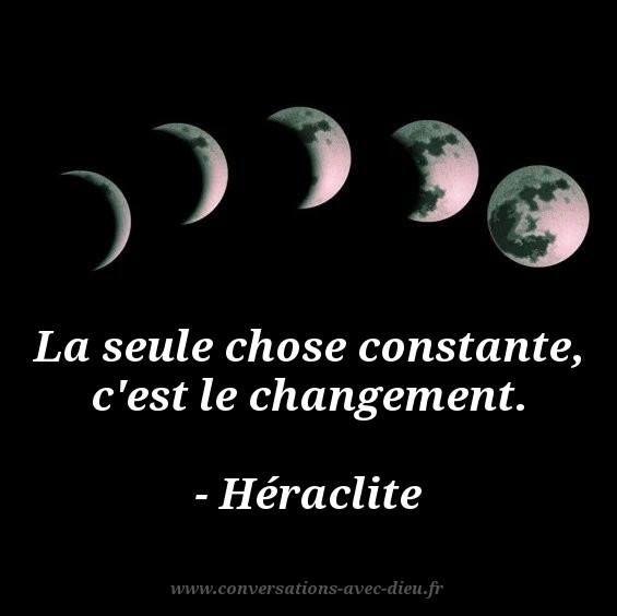 La seule chose constante c'est le changement. - Héraclite  http://ift.tt/1hbAx37