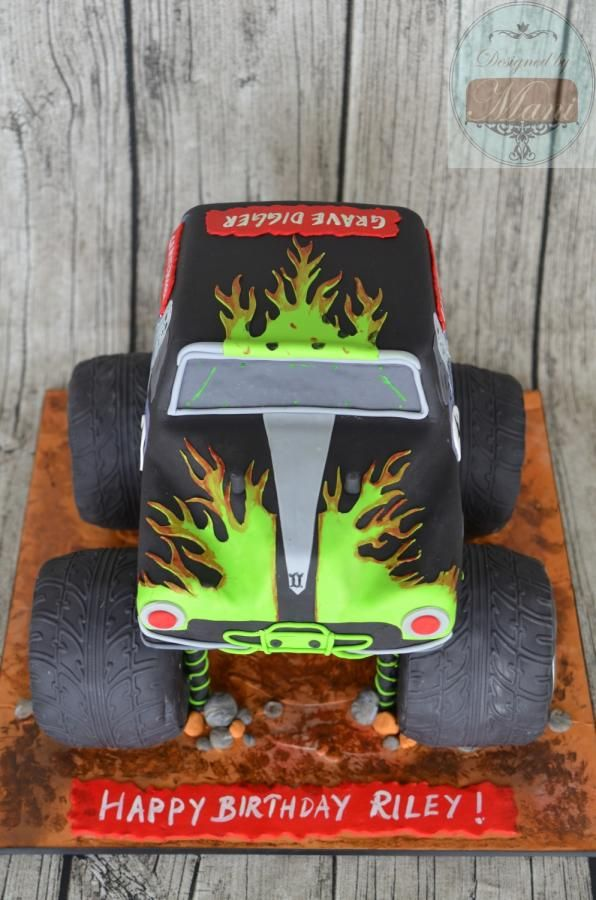 """Grave Digger"" birthday cake - Cake by designed by mani"