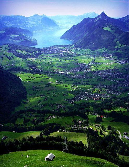 Rothenfluh near Schwyz in Switzerland. In Switzerland they have brotherly love.