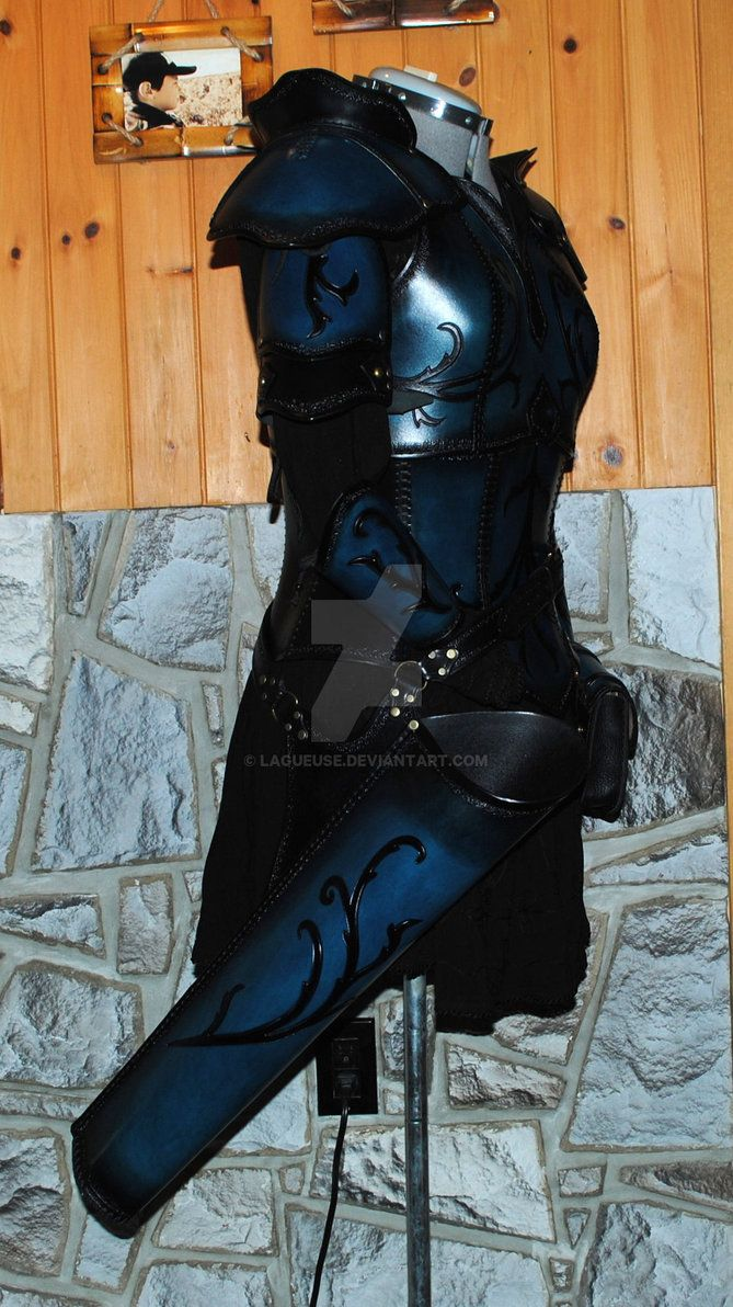 women leather armor (archer) by Lagueuse