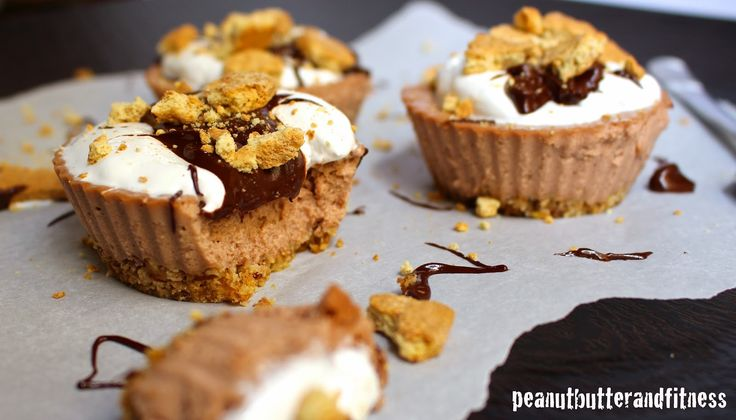 PEANUT BUTTER AND FITNESS: Guiltless S'mores Protein Cheesecake