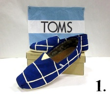 Brock's sole-full creation for our TOMS shoes project. Argentinian flag.
