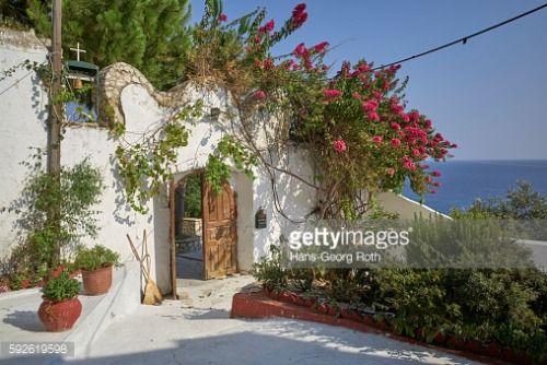Greece, Corfu/Ionian Islands, Ermones, 04.08.2016, Courtyard of... #ermones: Greece, Corfu/Ionian Islands, Ermones, 04.08.2016,… #ermones