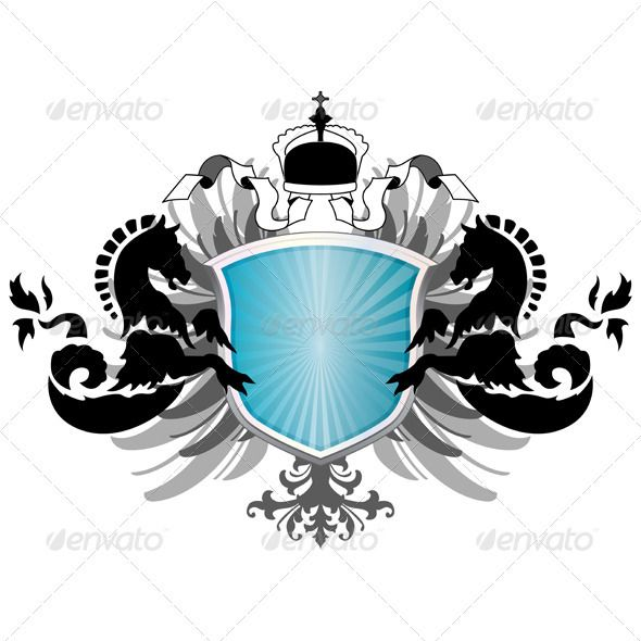 Arms with two sea fads  #GraphicRiver         Vector of arms with two sea fads and eagle wings. Package contains: EPS (10 version), JPG (4500×4500 pixels, RGB )     Created: 5July12 GraphicsFilesIncluded: VectorEPS Layered: No MinimumAdobeCSVersion: CS Tags: fad #illustration #knight #medieval #myth #mythology #ornament #ornate #power #retro #royal #royalty #sea #shield #sign #strong #symbol #tongue #vector #victorian #vintage #white #wings