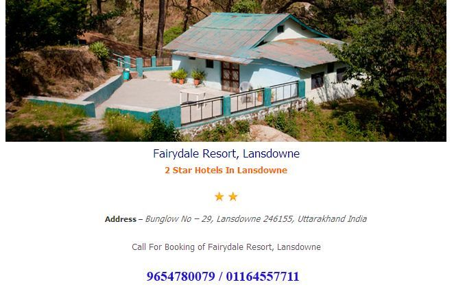 Fairydale Resort, Lansdowne a star hotels in Lansdowne booking at hotelsin lansdowne.co.in