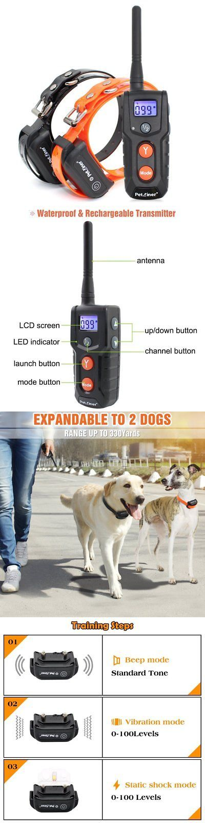Animals Dog: Petrainer Pet916-2 Dog 100% Waterproof Rechargeable Dog Shock Collar For 2 Dogs -> BUY IT NOW ONLY: $56.35 on eBay!