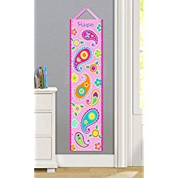 Olive Kids Personalized Paisley Dreams Canvas Growth Chart