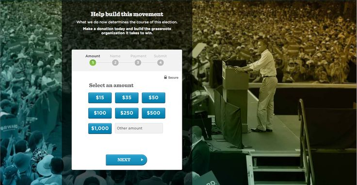 Donation Page from Barack Obama › PatternTap