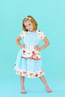 Opal Peasant Blue Dress  www.imaginationchildrensclothing.com: Inspiration, Pugs Opals, Blue Dresses, Pugs Blueorang, Peasant Dresses, Blueorang Flower, Flower Opals, Peasant Blue, Opals Peasant